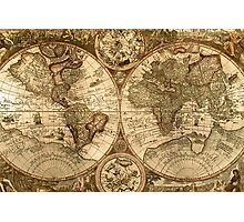 Ancient Map Photographic Print