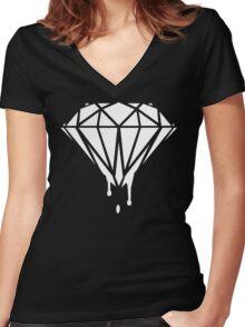 Melting Diamond 2 Women's Fitted V-Neck T-Shirt