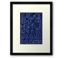 Paparazzi Blue Framed Print