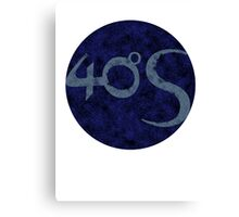 Darkmoon - Fourty Degrees South logo Canvas Print