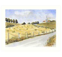 Hayrolls at Orgedeuil Art Print