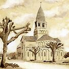 The Church at Montbron, France by ian osborne