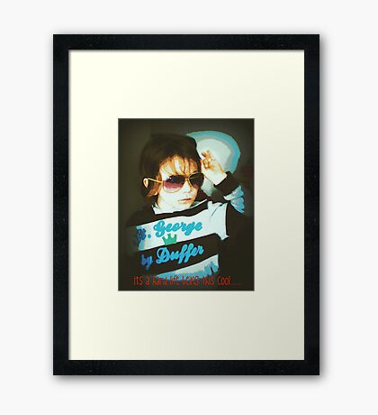 tough being cool Framed Print