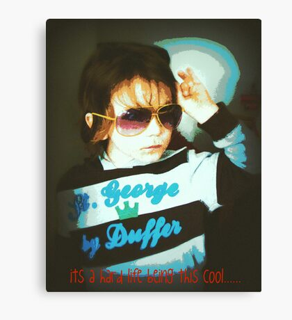 tough being cool Canvas Print