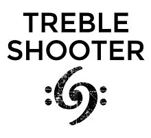 Treble Shooter 69 Bass Design (Black) by theshirtshops