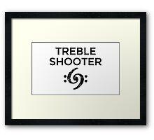 Treble Shooter 69 Bass Design (Black) Framed Print