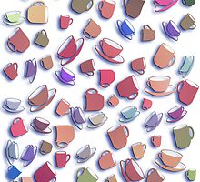 Tumbling Pottery - Kitchen Whimsies by simpsonvisuals