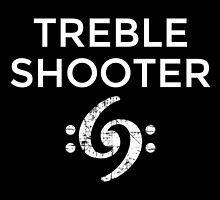 Treble Shooter 69 Bass Design (White) by theshirtshops