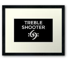 Treble Shooter 69 Bass Design (White) Framed Print
