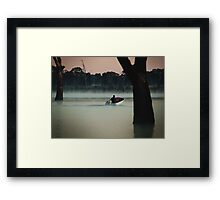 Heading Out,Going Fishing,Lake Fyans Framed Print