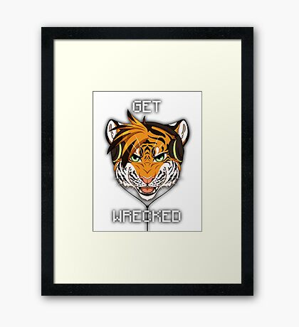 Headphone Tiger Framed Print