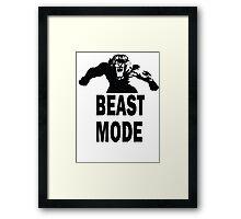 Beast Mode T-shirt Framed Print