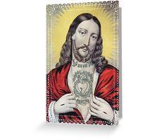 TATTOED JESUS Greeting Card