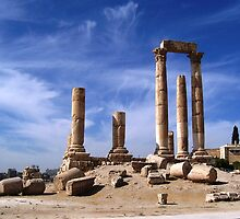 Ruins in Amman, Jordan by Tim Coleman