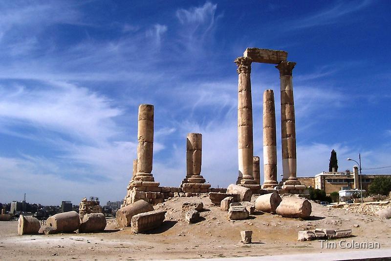 Ruins in Amman, Jordan by Tim Coleman