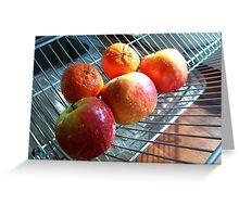 Freshly washed fruit Greeting Card