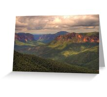 Student Of Light - Govetts Leap, Blue Mountains World Heritage Area - The HDR Experience Greeting Card