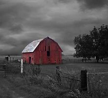 Oklahoma Red Barn by debidabble