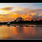 sunset dawson river nsw by kevin chippindall
