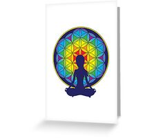 Flower of Life Meditation Greeting Card