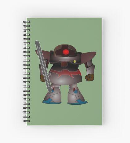 Battle Bot by Chillee Wilson Spiral Notebook