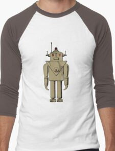 Vintage Robot by Chillee Wilson Men's Baseball ¾ T-Shirt