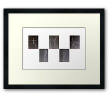 Drawings of a Wooden Man Framed Print