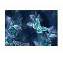 Night Glow Butterfly Art Print