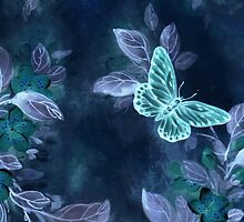 Night Glow Butterfly by writermore