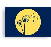 Dandylion Flight - Reversed Circular Canvas Print