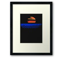 Digital Sunset T-shirt Framed Print