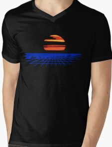 Digital Sunset T-shirt Mens V-Neck T-Shirt