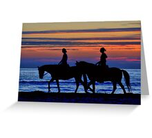 Sunset Horse Riding Greeting Card