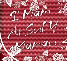 Mother's Day Card - Welsh Sul Y Mamau  by Moonlake