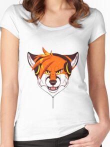 Headphone Fox Women's Fitted Scoop T-Shirt