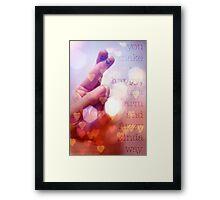Puppetry Love Framed Print