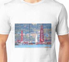 busy river, congratulating the in_port race winner. mapfre Unisex T-Shirt