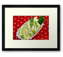 Healthy Green Fingerfood Sticks Framed Print