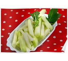 Healthy Green Fingerfood Sticks Poster