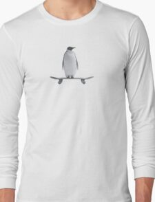 Penguin Skateboard Long Sleeve T-Shirt
