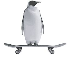 Penguin Skateboard by Chairboy
