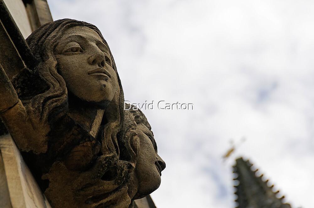 2 headed Gargoyle, Magdalen college by buttonpresser
