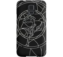 Stained Glass Rose Black Samsung Galaxy Case/Skin