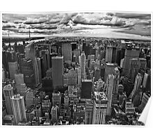 NYC in black and white Poster
