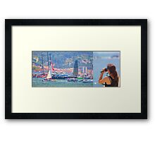 boat watching Framed Print