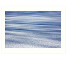 Shadow Painted Ice ... Sprinkled with Snow Art Print