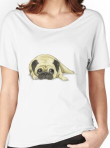 A Pug Waiting For His Dinner Women's Relaxed Fit T-Shirt