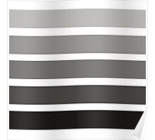 Modern black gray gadient trendy stripes pattern Poster