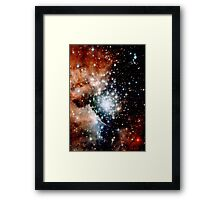 Red Galaxy Framed Print