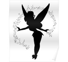 Tinkerbell silhouette Poster
